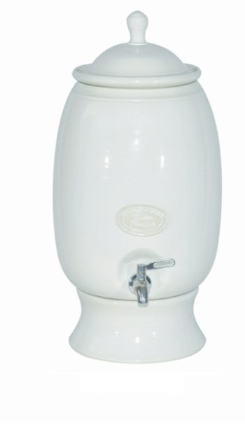 Hartgoods - Southern Cross Pottery (SCP), White, Large, Water Purifier and the SCP Fluoride Plus™ Water Filter Cartridge